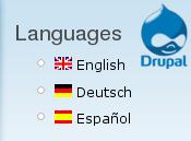 Flerspråkig drupalwebbplats